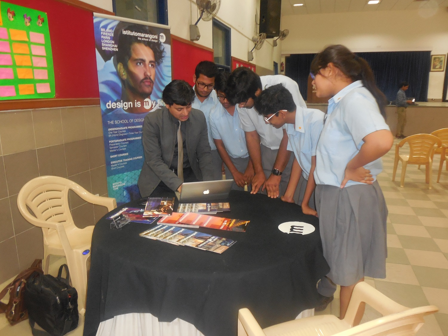 Students from classes XI and XII attend ICAE Global University Fair
