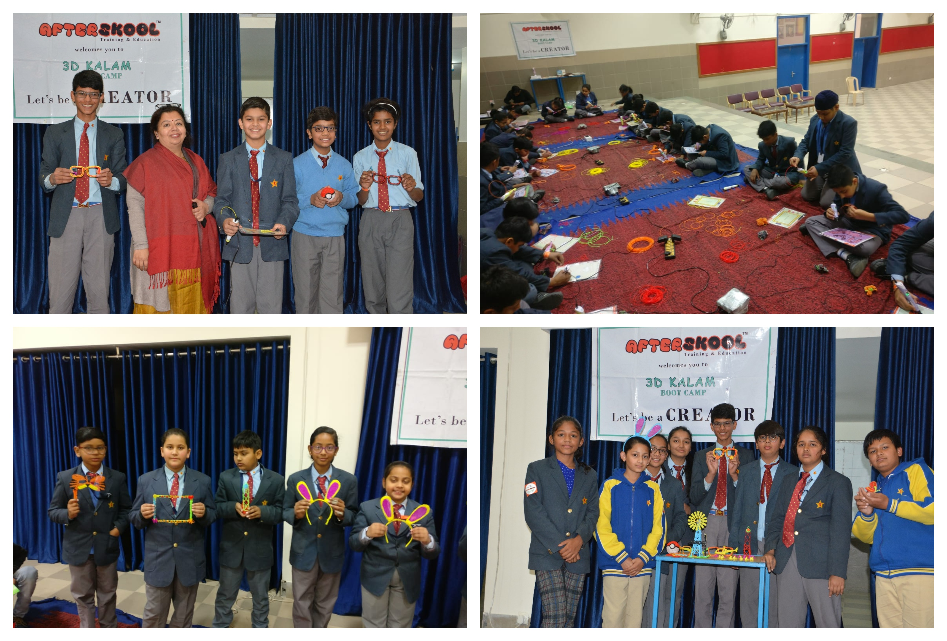 Sanskar students enjoy 3D Kalam Boot Camp