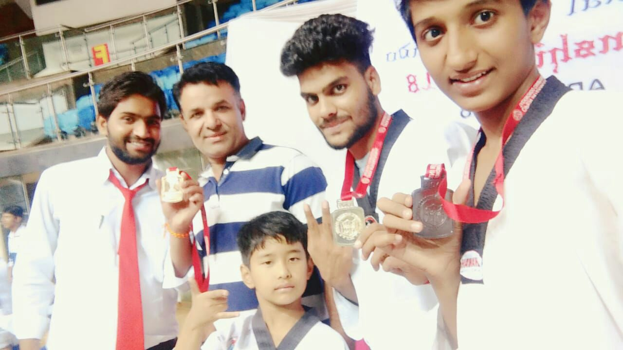 Sanskar student wins Gold at the 5th International Taekwondo Championship