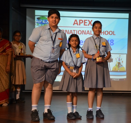 Sanskar students excel at Apex Fiesta 2018