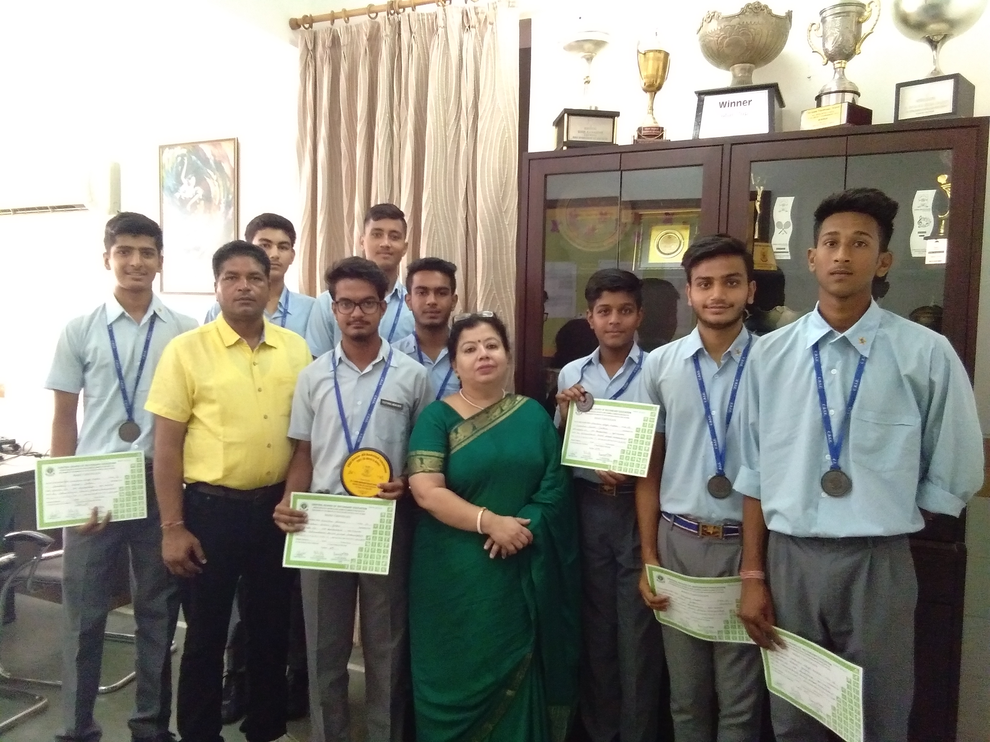 Sanskar School wins Bronze Medal in the CBSE Cluster XIV Basketball Tournament