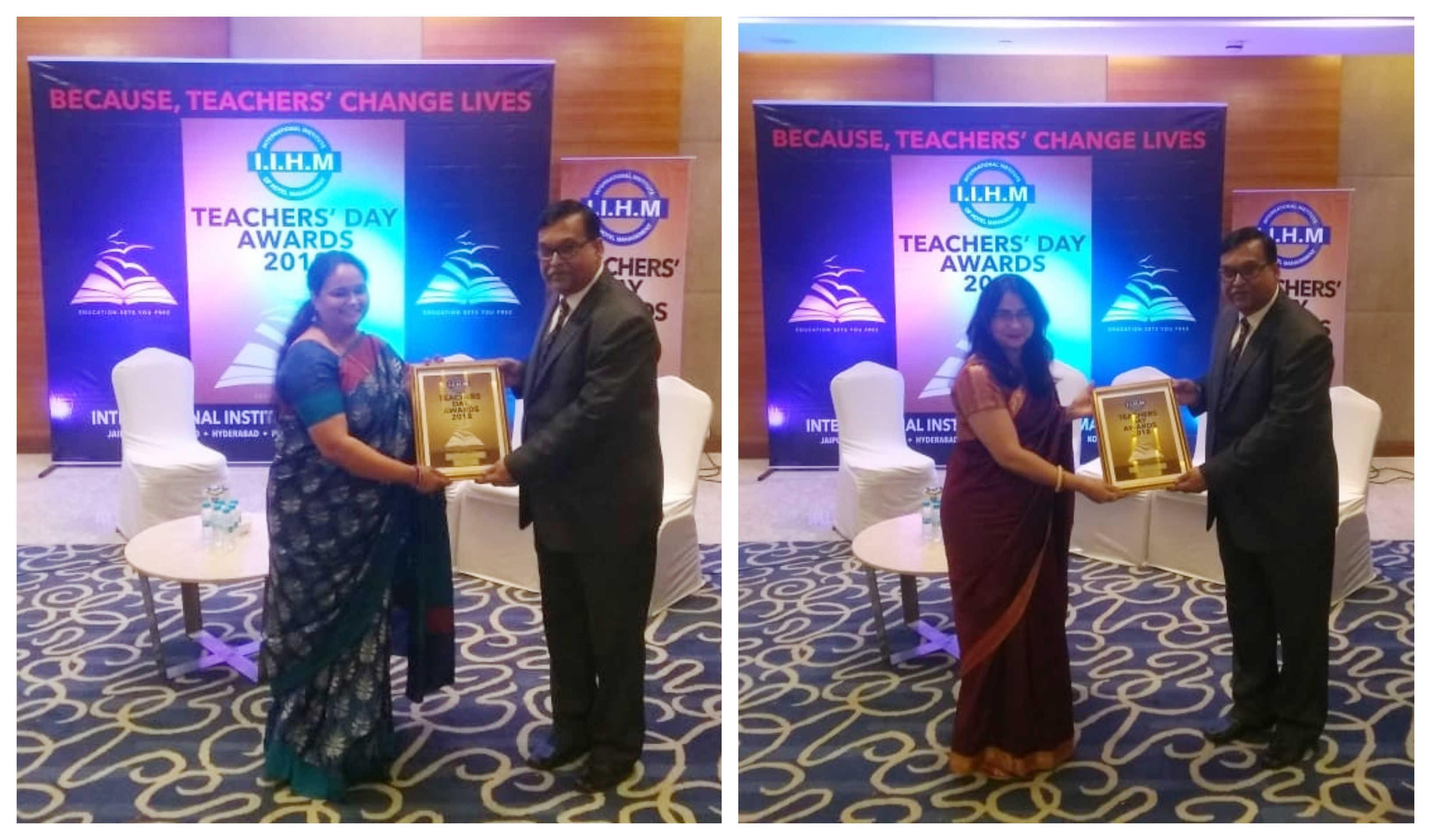 Sanskar School teachers felicitated at The IIHM Teachers Day Awards 2018