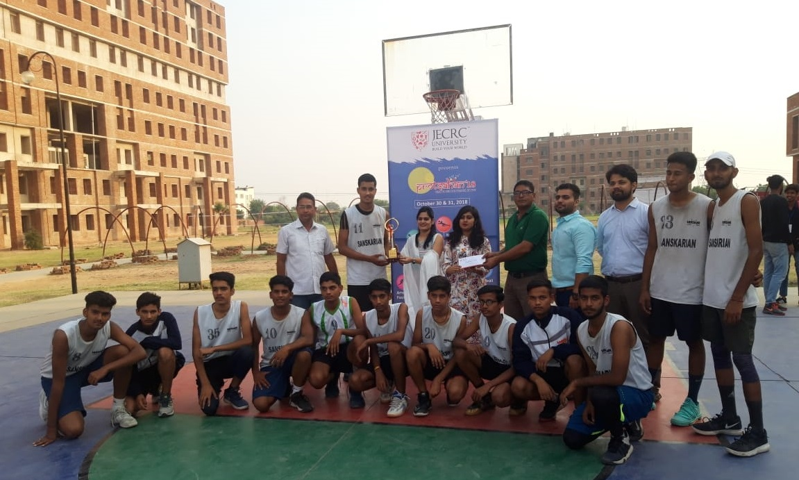 Sanskar School wins the JECRC Basketball Tournament