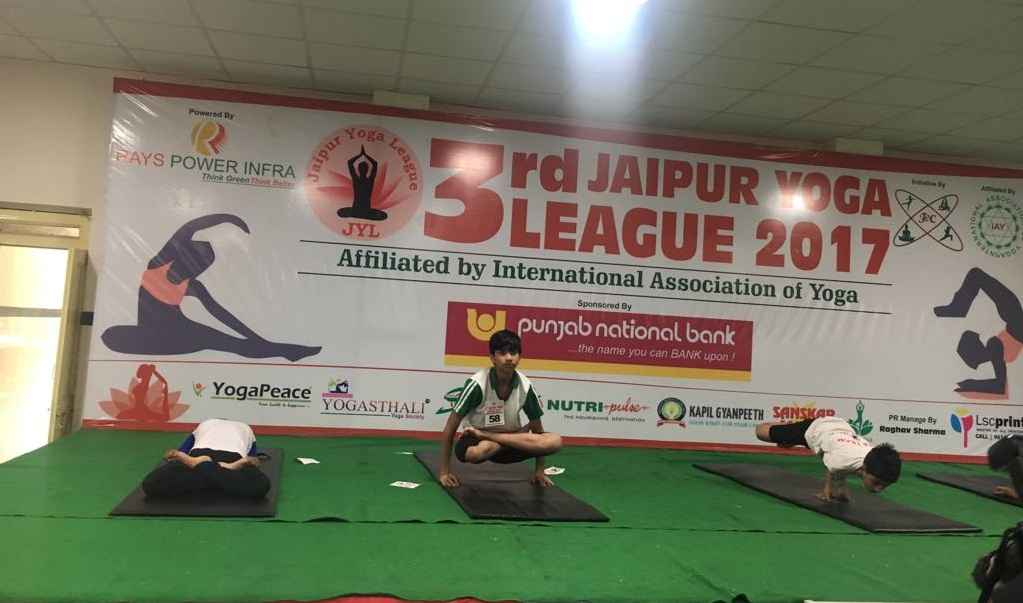 Sanskar School student wins in the 3rd Jaipur Yoga League 2017