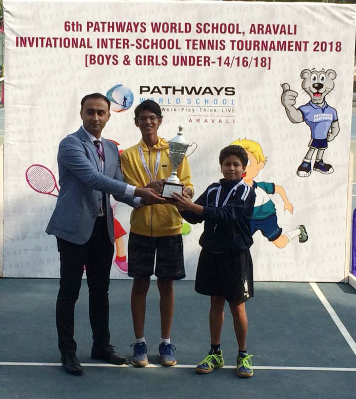 Sanskar students bag Runners Up position at Tennis Tournament