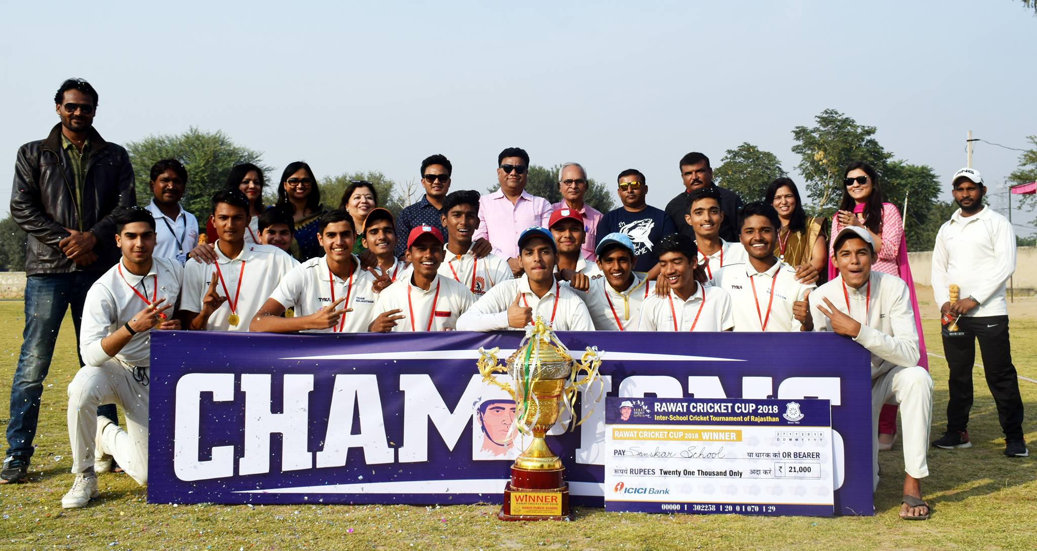 Sanskar School retains winning position in Rawat Cup Tournament