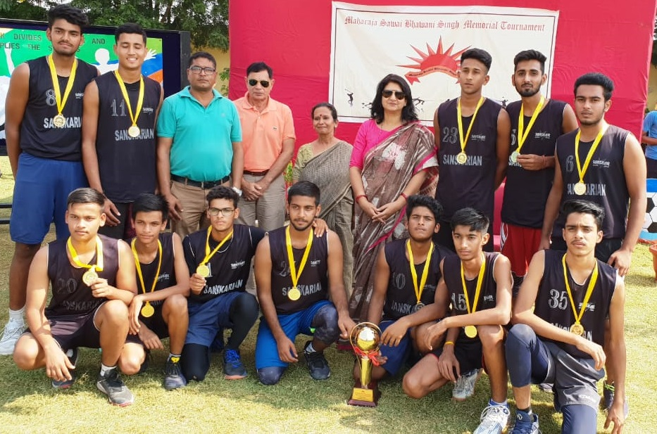 Sanskar School wins the 8th Maharaja Sawai Bhawani Singh Basketball Tournament