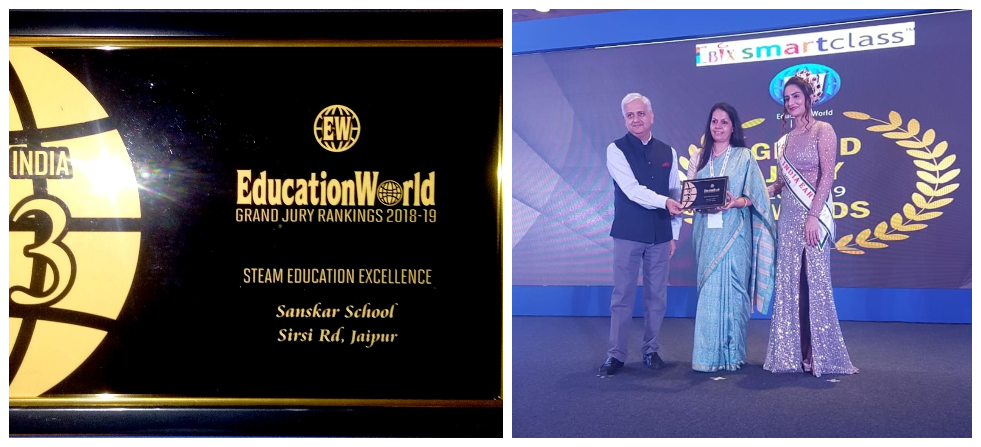 Sanskar School receives Education World Grand Jury Award 2018