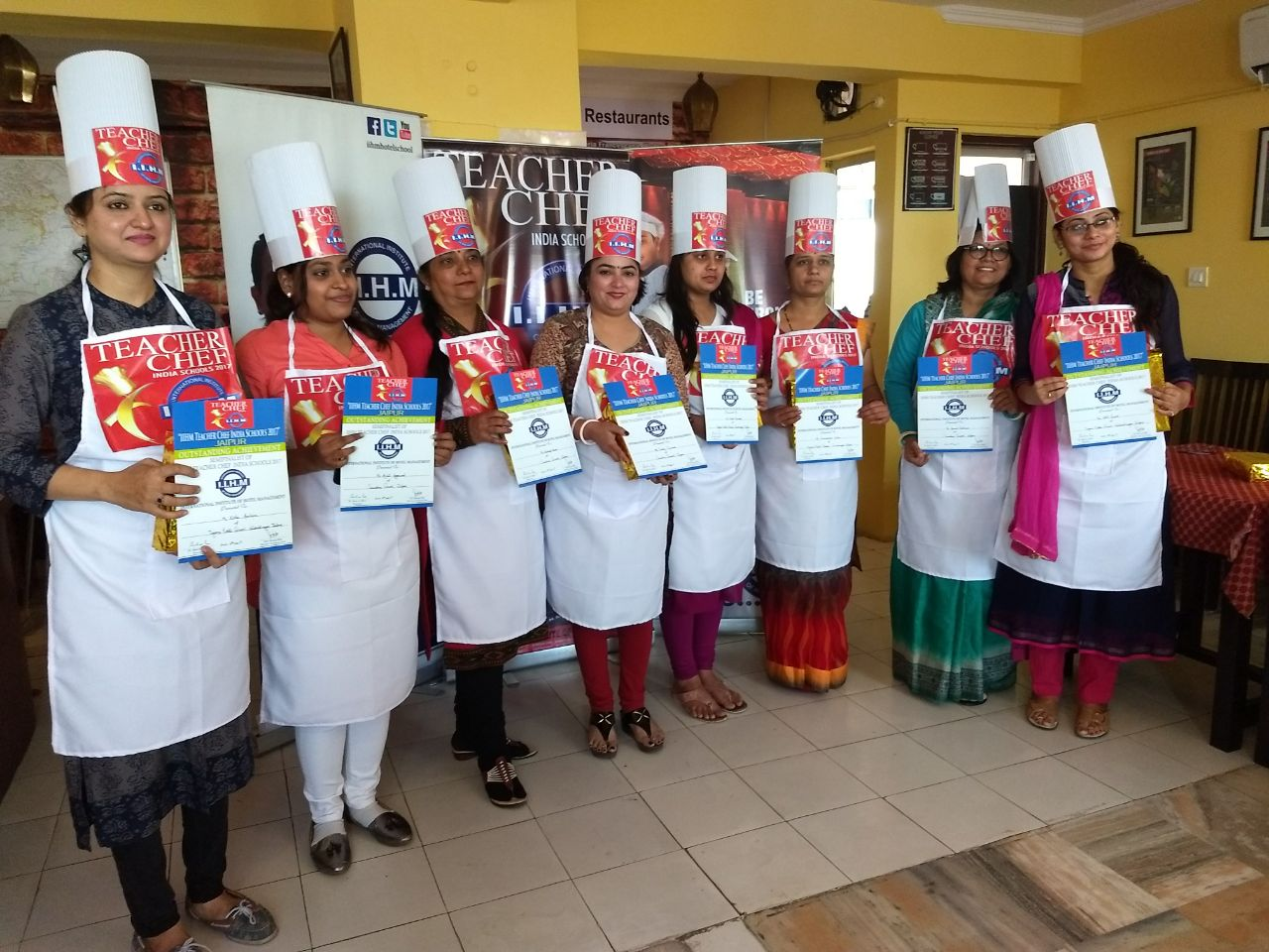 Sanskar School teachers attend Semi Final round of Cookery Competition