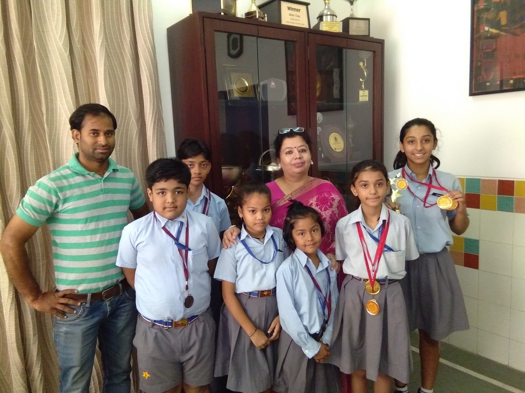 Sanskar students win medals at the 23rd State Roller Skating Championship 2017