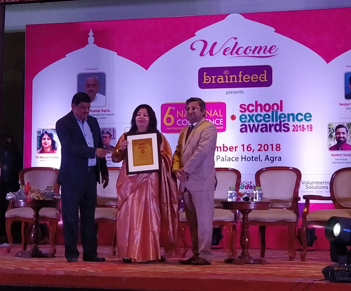 Sanskar School conferred the Brainfeed School Excellence Award 2018-19