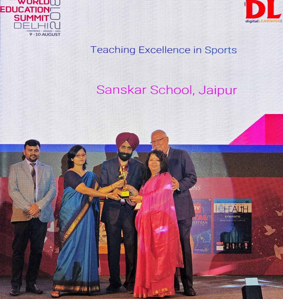 Sanskar School Principal felicitated with the 12th World Education Award 2018