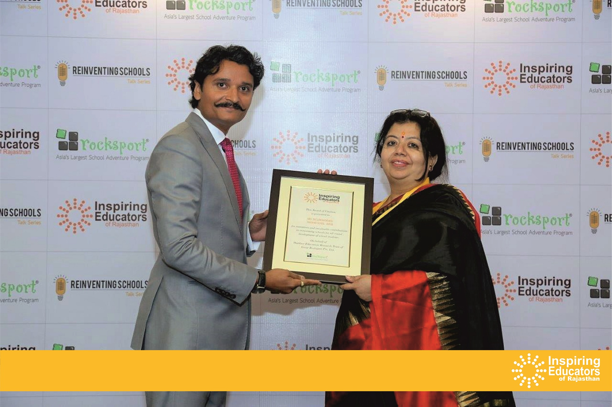 Sanskar School Principal receives 'Inspiring Educator Award'