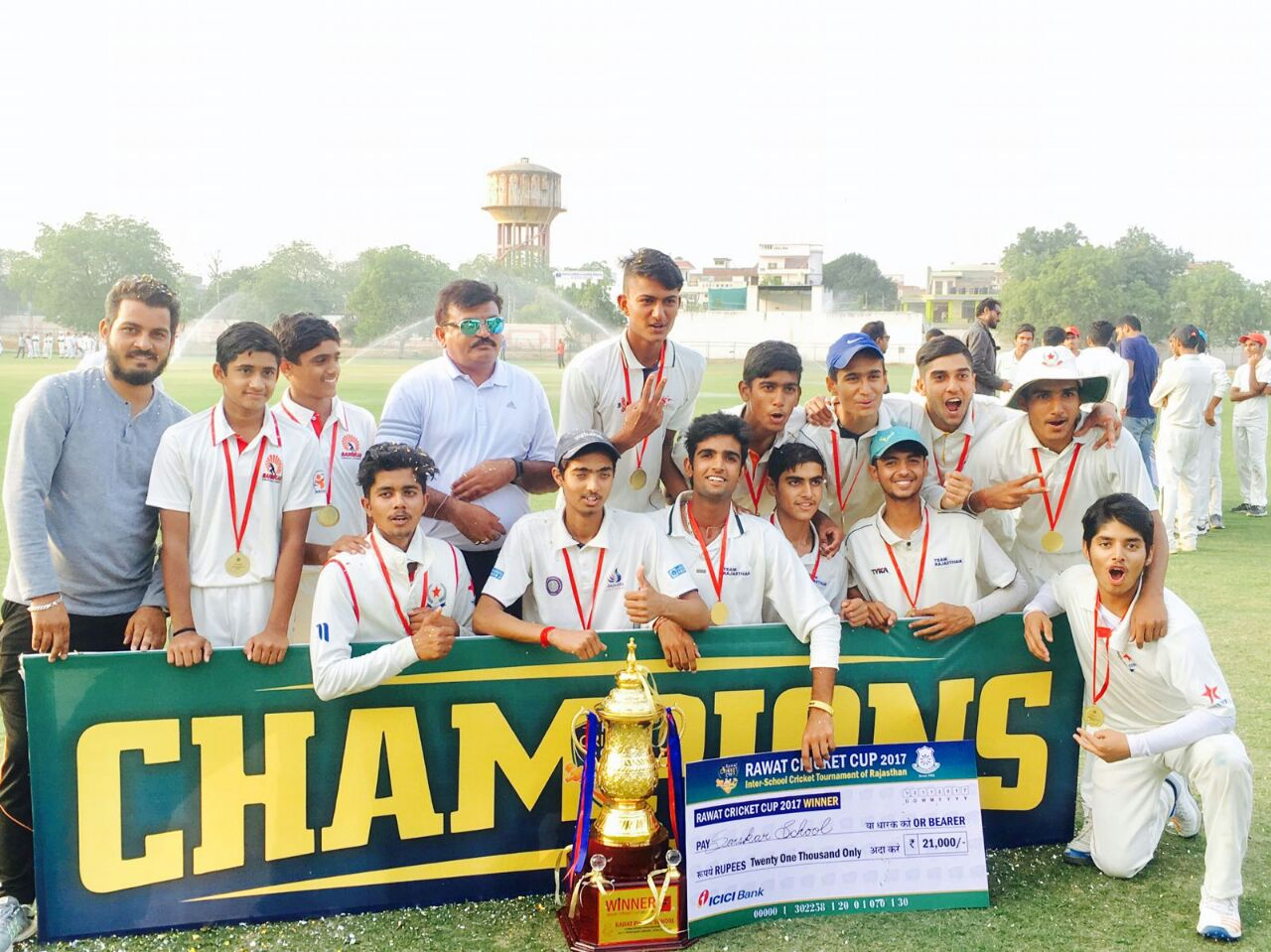 Sanskar School wins 2nd Rawat Cup Cricket Tournament